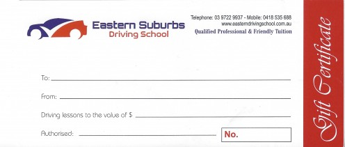Eastern Suburbs Driving Schools_Gift check